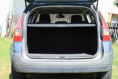 Car trunk. Trunk of a silver car Royalty Free Stock Photos
