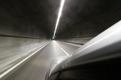 Car in tunel Royalty Free Stock Image