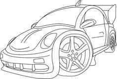 Car tuning. Vector  - cartoon like new VW Beetle tuning Stock Photography