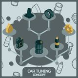 Car tuning color concept isometric icons. Vector illustration, EPS 10 Stock Image