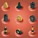 Car tuning color isometric icons. Vector illustration, EPS 10 Royalty Free Stock Image