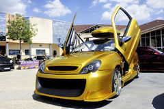 Car tuning exhibition Royalty Free Stock Photo