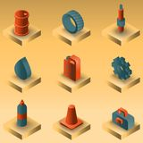 Car tuning gradient isometric icons. Vector illustration, EPS 10 Stock Photography