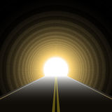 Car tunnel. Vector illustration of a car tunnel Stock Photography