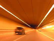 car tunnel Στοκ εικόνα με δικαίωμα ελεύθερης χρήσης