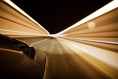 Car in tunnel Stock Image