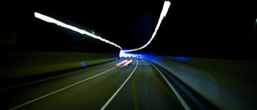 Car tunnel abstract Royalty Free Stock Photo