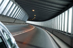 car tunnel illuminate with day light Royalty Free Stock Photos
