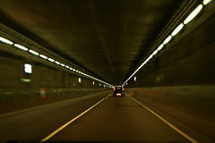 Car in a tunnel Royalty Free Stock Photo