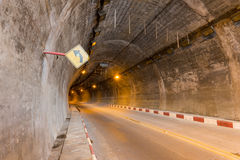 Car tunnel. With road infrastructure royalty free stock photo