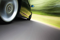 Car in turn Royalty Free Stock Photos