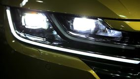 Car with turn signal light stock video