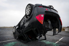 Car turned upside-down, detail Royalty Free Stock Photography