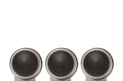 Car tweeter speaker audio. Old car audio tweeter speaker, isolated on white background Royalty Free Stock Photos
