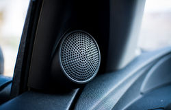 Car Twitter Speaker. Black car twitter speaker round shaped Royalty Free Stock Photography