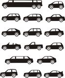 Car types Royalty Free Stock Image