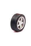 Car tyre. Isolated on white background Royalty Free Stock Photography