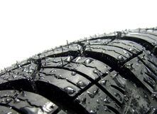 Car tyre. Cap in water Stock Image