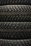 Car tyre. On black studio background Stock Photography