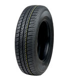 Car tyre. The new car tyre on white background stock image