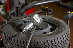 Car Tyre Pressure Stock Images