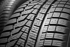 Car tyre profile tire. Close up of a tyre profile on car tires stock images