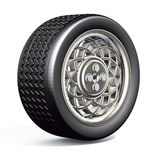 Car tyre silver Stock Photos