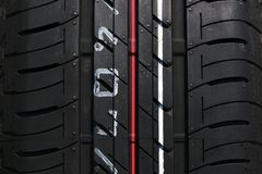 Car tyre vertical Stock Photos