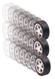 Car tyres Stock Photo