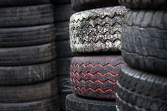 Car tyres Stock Image