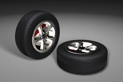 Car tyres (wheels) Royalty Free Stock Photos
