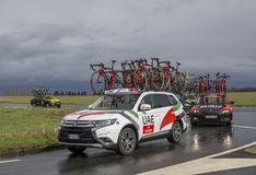 The Car of UAE Team Emirates - Paris-Nice 2017 stock photography