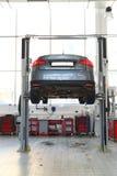 Car under repair royalty free stock photos