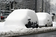 Car under the snow Royalty Free Stock Photography
