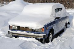 The car under a snow Royalty Free Stock Photography