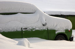 Car under the snow Stock Images