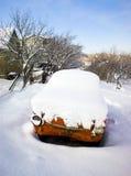 Car under snow royalty free stock photos