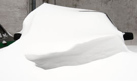 Car under the snow Stock Image