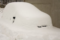Car under snow Stock Image