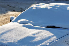 Car under snow Royalty Free Stock Photo
