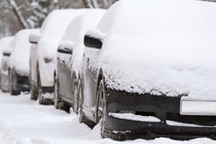 Car under snow Royalty Free Stock Photography