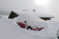 Car under snow. Royalty Free Stock Photo