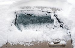 Car under snow Royalty Free Stock Image