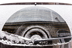 Car under snow Royalty Free Stock Image