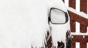 Car under snow Stock Images