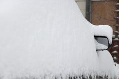 Car under a snowbank Royalty Free Stock Photo