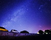 Car under the star Royalty Free Stock Photography