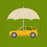Car under umbrella Royalty Free Stock Photography