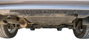 Car undercarriage dust dirty on background. Car undercarriage dust dirty,on white background Stock Images