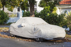 Car underneath a car cover Stock Photography